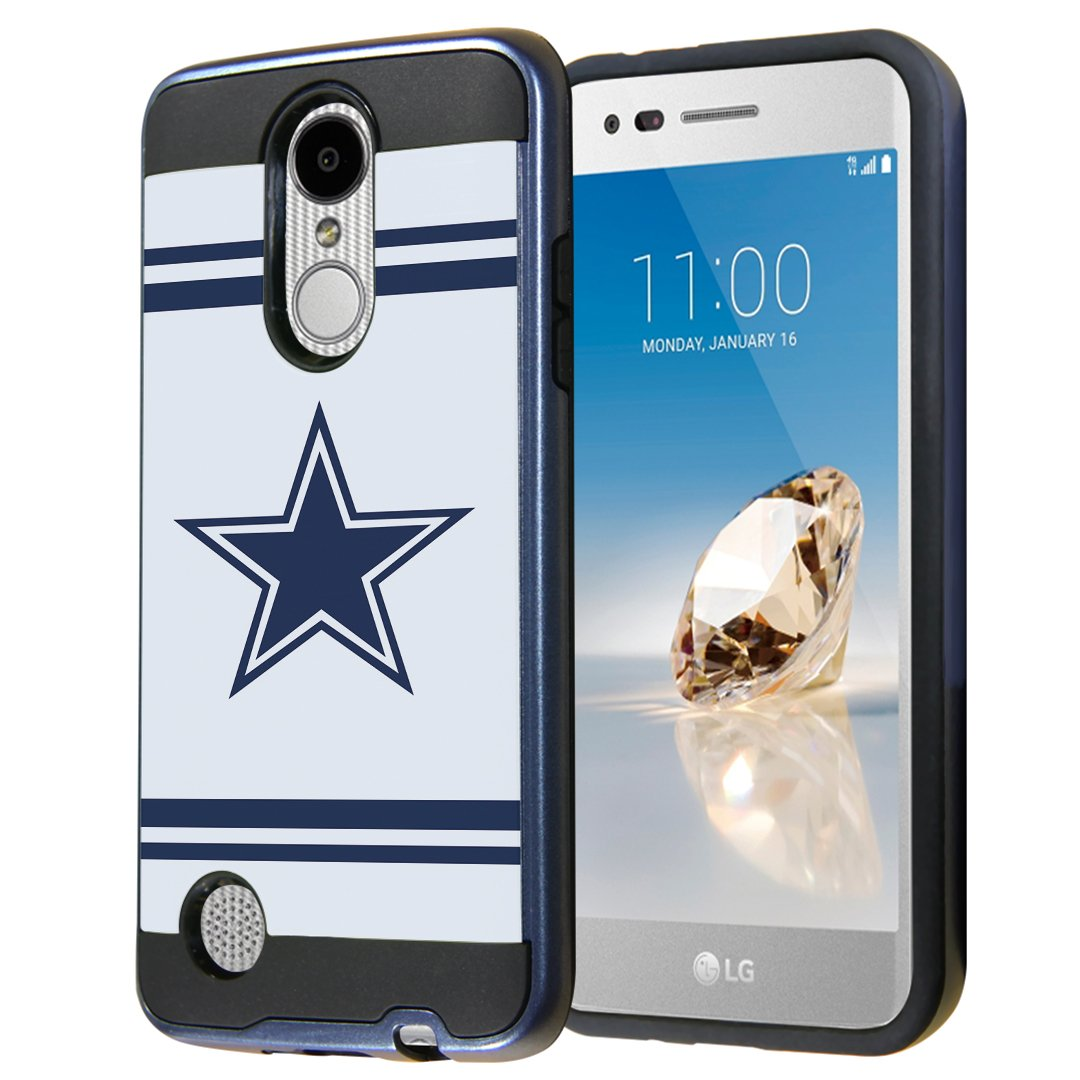 LG Aristo Case, LG Fortune Case, LG Phoenix 3 Case, Capsule-Case Dual Layer Slick Armor Case (Black & Blue) for LG Aristo / Fortune / Phoenix 3 / K4 2017 / K8 2017 - (Cowboy)