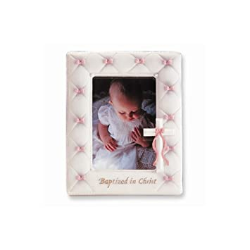 Amazoncom 7 Baptism Frame For 35x5 Photo Girl Pink