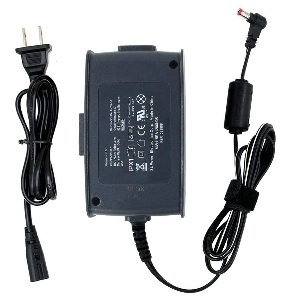 60W 12V 5A AC DC Adapter Charger for Philips Respironics Pro M Series 1015642 CPAP Machine 50 Series System One REMstar Auto A-Flex 550 REF 550P 1051158 1024563 AA24750L 001 105819 Power Supply