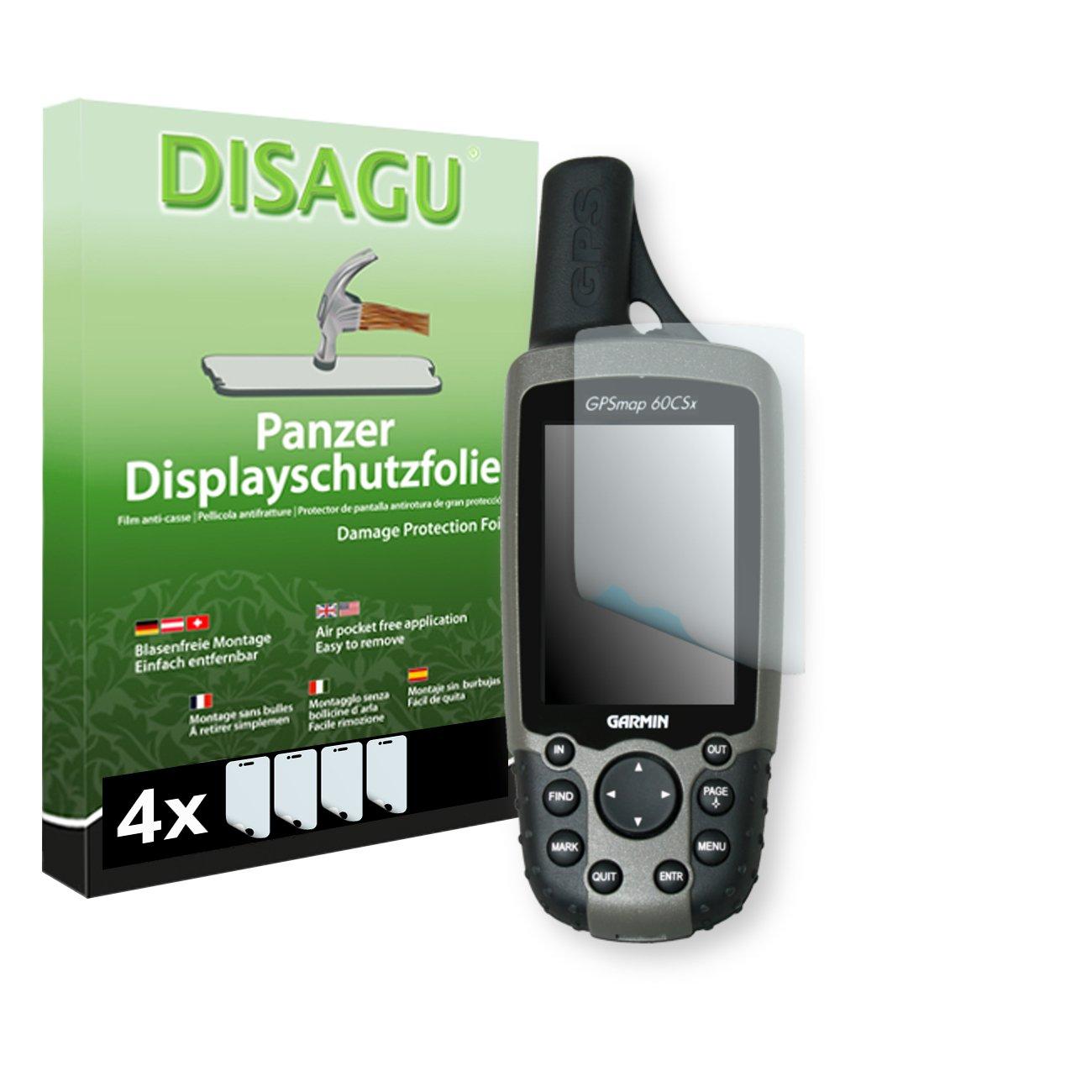 DISAGU Garmin GPSMAP 60 CSX Film de Protection d'écran - 4 x Film blindé pour Garmin GPSMAP 60 CSX Film de Protection Contre la Casse