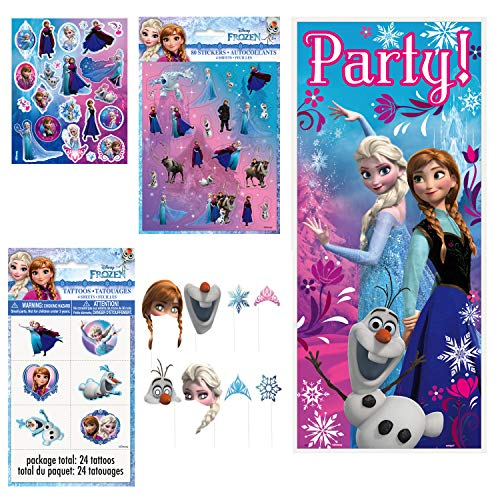 Unique Disney Frozen Birthday Party Favors and Supplies | Poster, Stickers, Photo Booth Props and Tattoos -