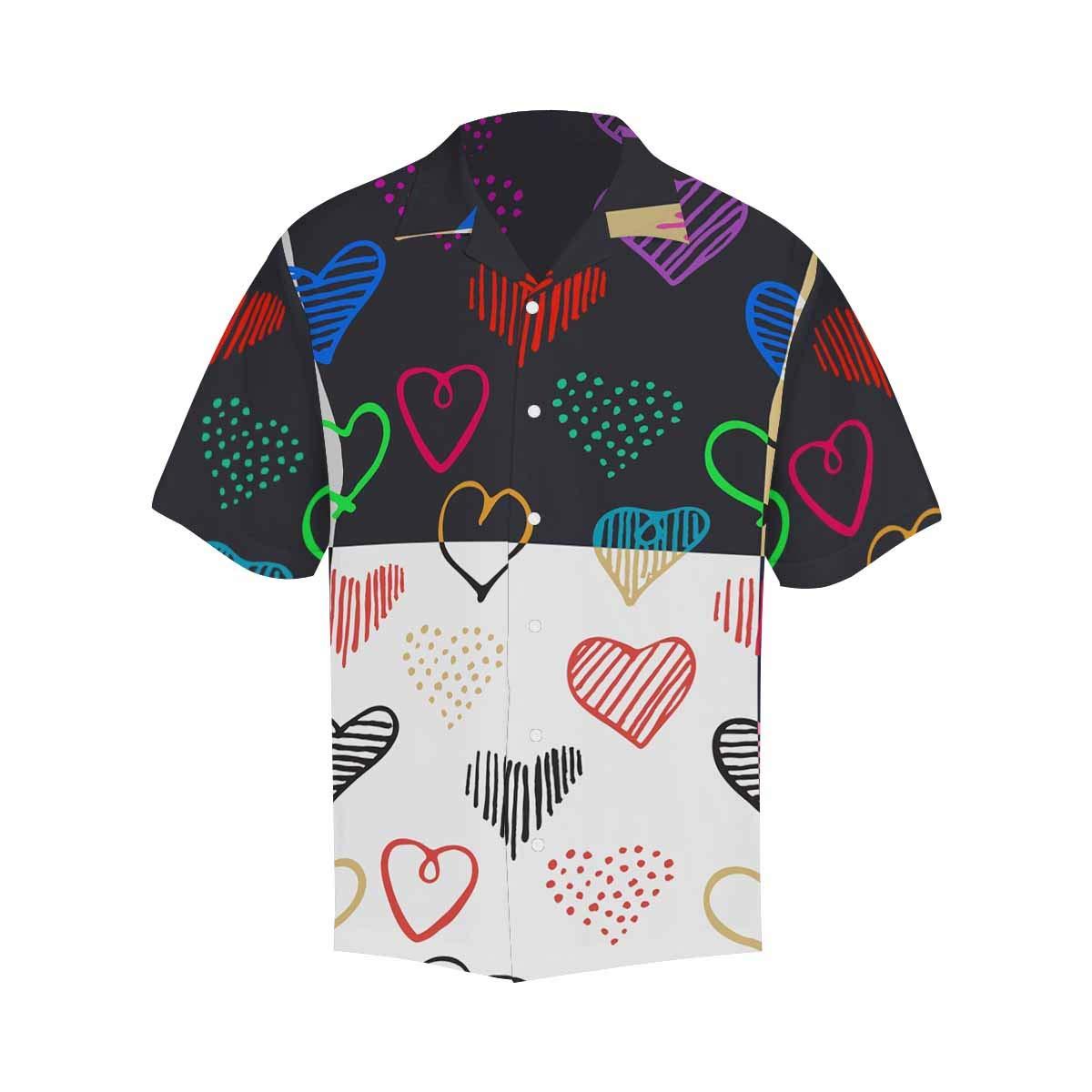 InterestPrint Men Button Up Lotus Flower Select Focus Blur Short Sleeve Print Button Up Shirts