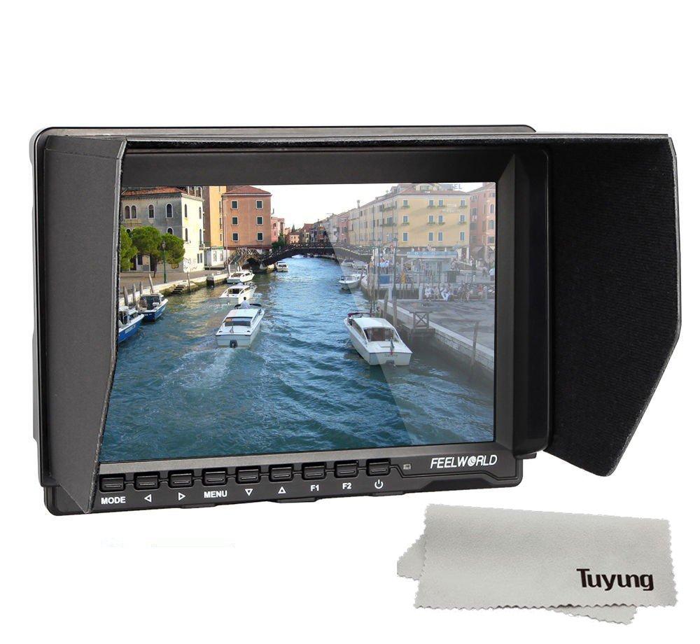 Feelworld FW759 一眼レフカメラ/ビデオカメラ用液晶モニター/7インチ HD IPS 1280×800 HDMI 液晶モニタ   B01NBQNIR8
