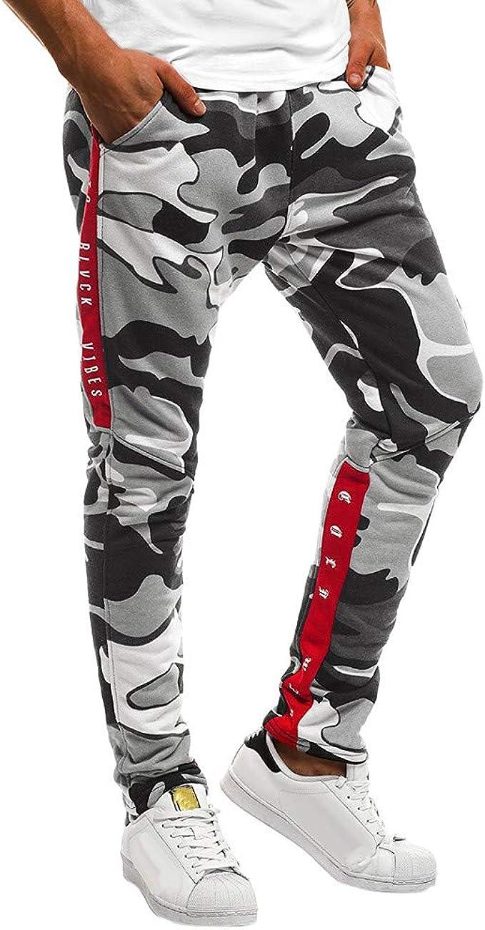 Pantalones Hombre Chandal Camuflaje Pantalon Deporte Hombre ...