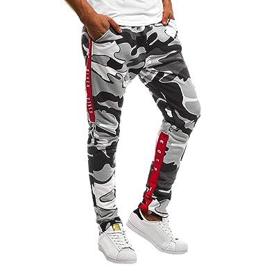 Pantalones Hombre Chandal Camuflaje Pantalon Deporte Hombre Pants ...