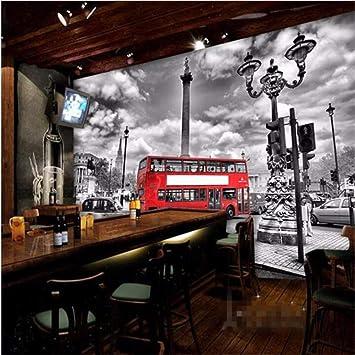 Sala Da The Londra.Wiwhy Carta Da Parati Continental Bus Rosso Londra Grande