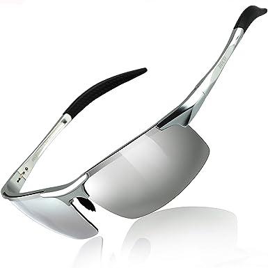 section spéciale super mignon vente en ligne Duco Lunettes de soleil homme Lunettes de sport polarisées - Lunettes de  conduite avec monture en métal Incassable - 100% anti UV400-8177S