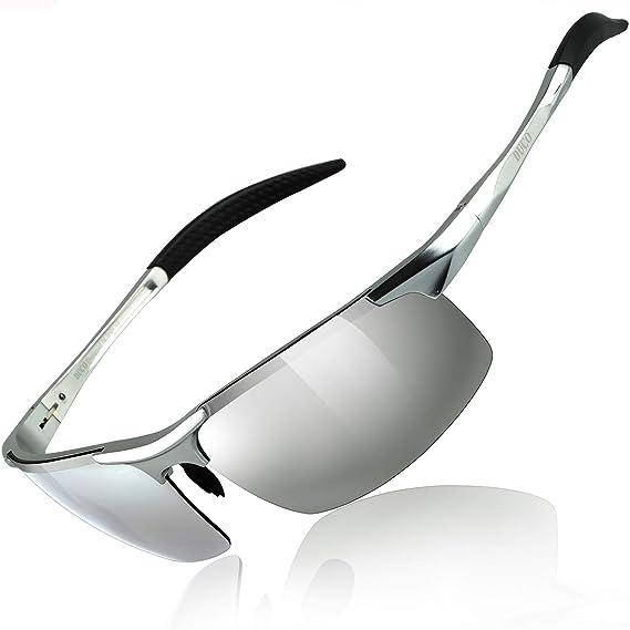 6e2b479001 Duco Lunettes de soleil homme Lunettes de sport polarisées - Lunettes de  conduite avec monture en