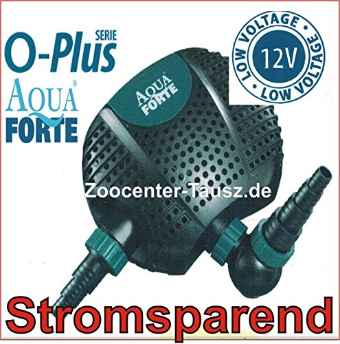 TAB Aquaforte O-6500 Plus 12 Volt Pumpe Filterpumpe Teichpumpe 50W 6500L/h max.4m