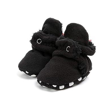 89254faeba15e AUPUMI Unisex-Baby Newborn Cozie Fleece Booties with Non Skid Bottom Infant  Winter Shoes (