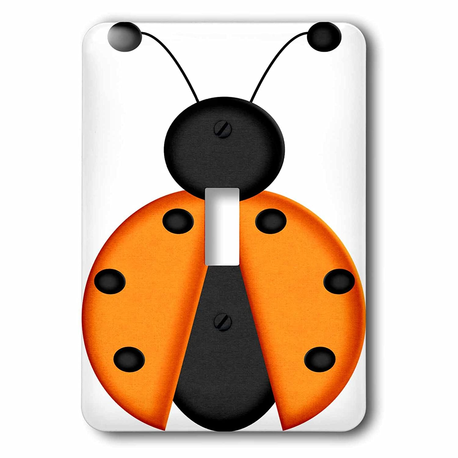 3dRose lsp_213835_1 Cute Orange and Black Lady Bug Graphic Single Toggle Switch Multicolor