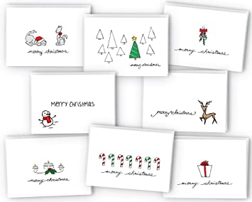 Amazoncom Merry Christmas Greeting Cards Collection Cards - Card template free: golf christmas cards