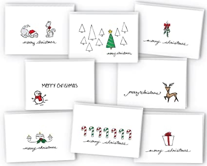 Amazon merry christmas greeting cards collection 24 cards merry christmas greeting cards collection 24 cards envelopes m4hsunfo