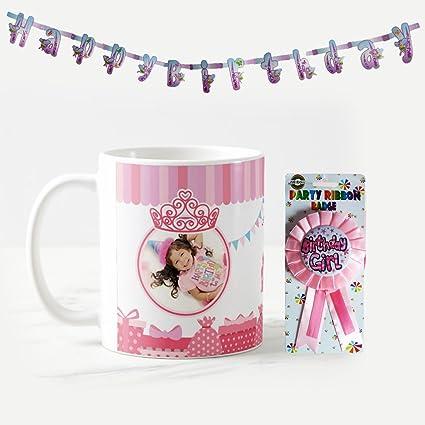 Buy Dream Gifts 1st Happy Birthday Personalized Photo Mug