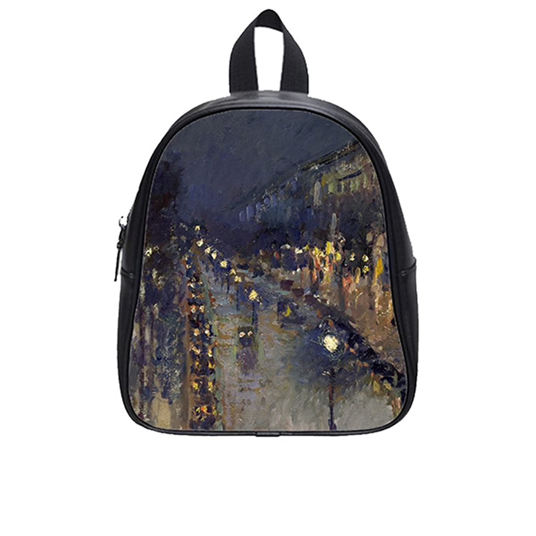 Custom London Scene PU Leather Kids School Bag (Small)