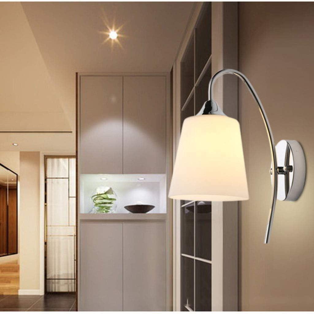Estilo moderno ligero de apliques de pared Iluminación con pantalla de cristal Granados elaborados metálicos Simplicidad de montaje en pared for accesorios ligeros Pasillo Baño Cocina Sala de estar (p: Amazon.es: Hogar
