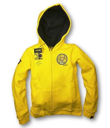 MotoGP Valentino Rossi VR 46 niños sudadera con capucha, color amarillo, Niño, amarillo