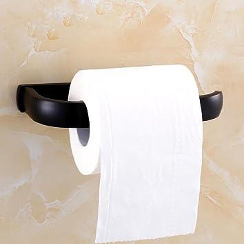 ZXY Sostenedor de papel higiénico baño negro retro de estilo europeo, resistente y fácil de instalar cobre estante de toalla ...