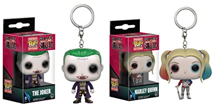 Pocket POP. - Llavero Suicidio Squad Joker y Harley Quin ...