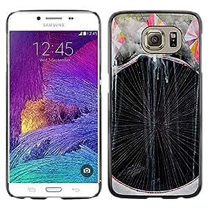 rígido protector delgado Shell Prima Delgada Casa Carcasa Funda Case Bandera Cover Armor para Samsung Galaxy S6 SM-G920 /Art Painting Lines Stripes/ STRONG