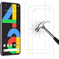 Ahasky Tempered Glass for Google Pixel 4A Screen Protector, Easy Bubble-Free Installation, 99.99% HD Clarity, 9H…