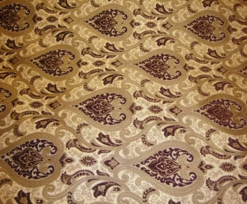 (upholstery Chenille Monte Cristo Wine Damask Fabric with Gold fabrics 55