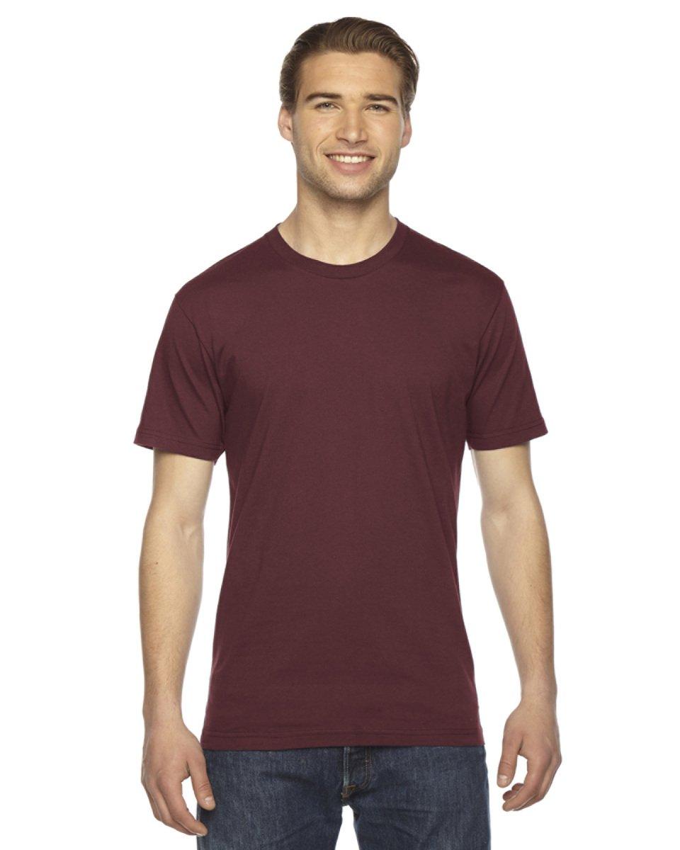 American Apparel Mens Fine Jersey Short-Sleeve T-Shirt (2001) -TRUFFLE -2XL