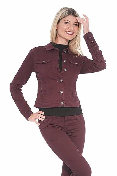 Amazon.com: Suko Jeans - Chaqueta para mujer, elástica, de ...