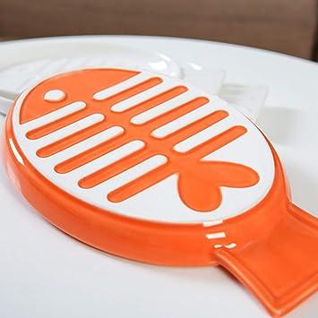 LIUQIAN Pote de Gato de tazón de Fuente de cerámica Gato Aperitivo Plato Gato Comida Placa Cat Alimentos tazón de Fuente de Suministros para Mascotas: ...
