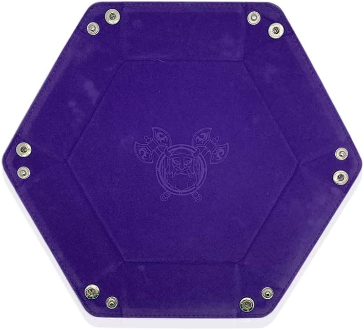 Purple Foldable Snap DND Dice Tray Norse Foundry