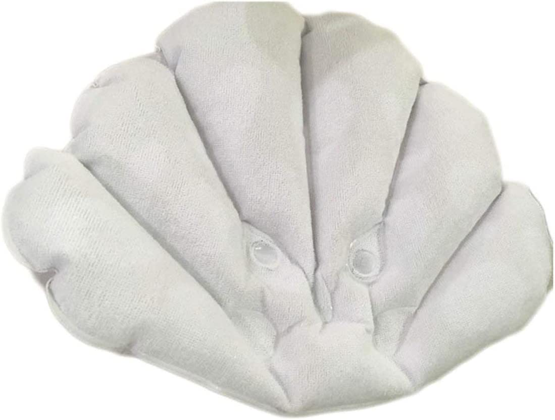 Almohada de ba/ño Suave Hogar C/ómodo SPA Copas de ba/ño inflables Cuello en Forma de Concha Coj/ín de ba/ñera Accesorios de ba/ño Paperllong/®