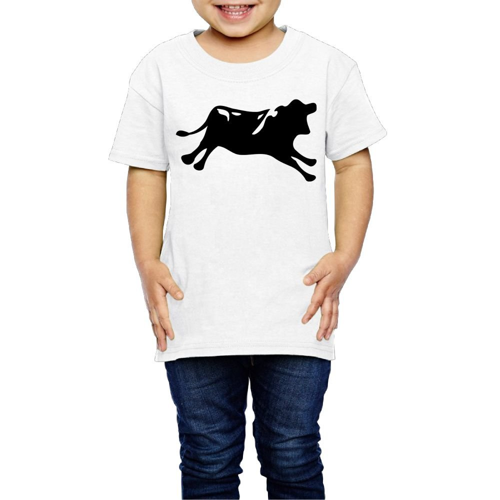 Moniery Cute Short-Sleeves Tshirt Black Running Cow Birthday Day Baby Boy Toddler