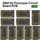 KEYESTUDIO 10 PCS Prototype Board PCB DIY Kit for Arduino Mega 2560 R3, Double Sided PCB Board for Arduino Kit