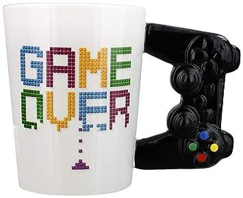 Game Over Game Controller Taza en forma de manija por ...