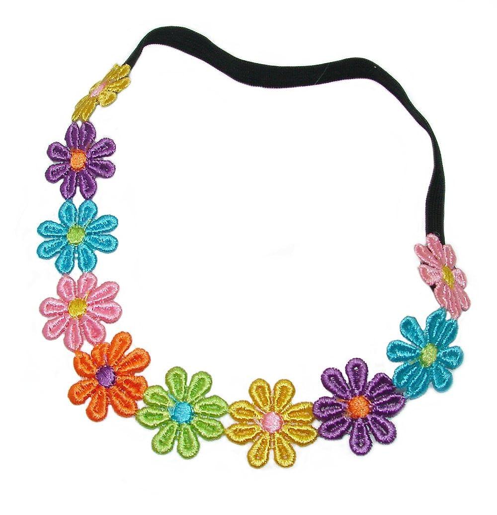 Bling Online Multi Colour Daisy Chain Elasticated Headband.