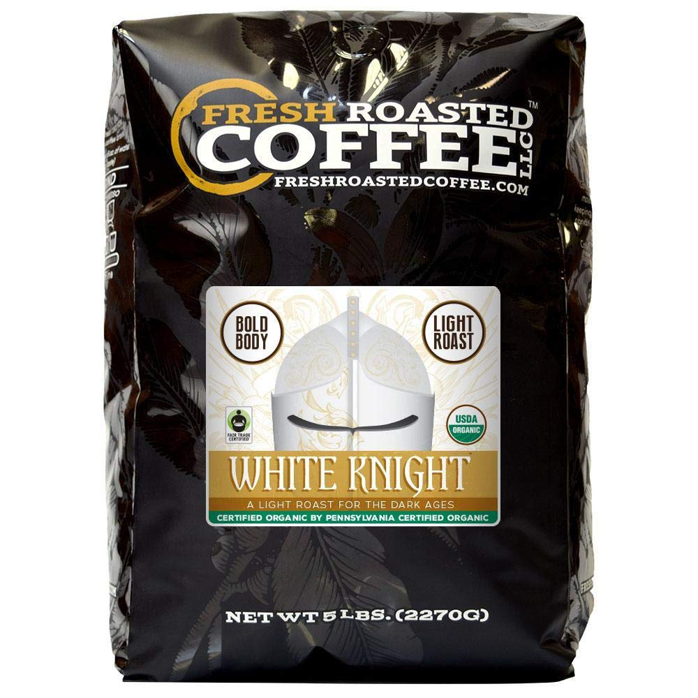 White Knight Light Roast FTO, Whole bean coffee, Fresh Roasted Coffee LLC. (5 lb.)