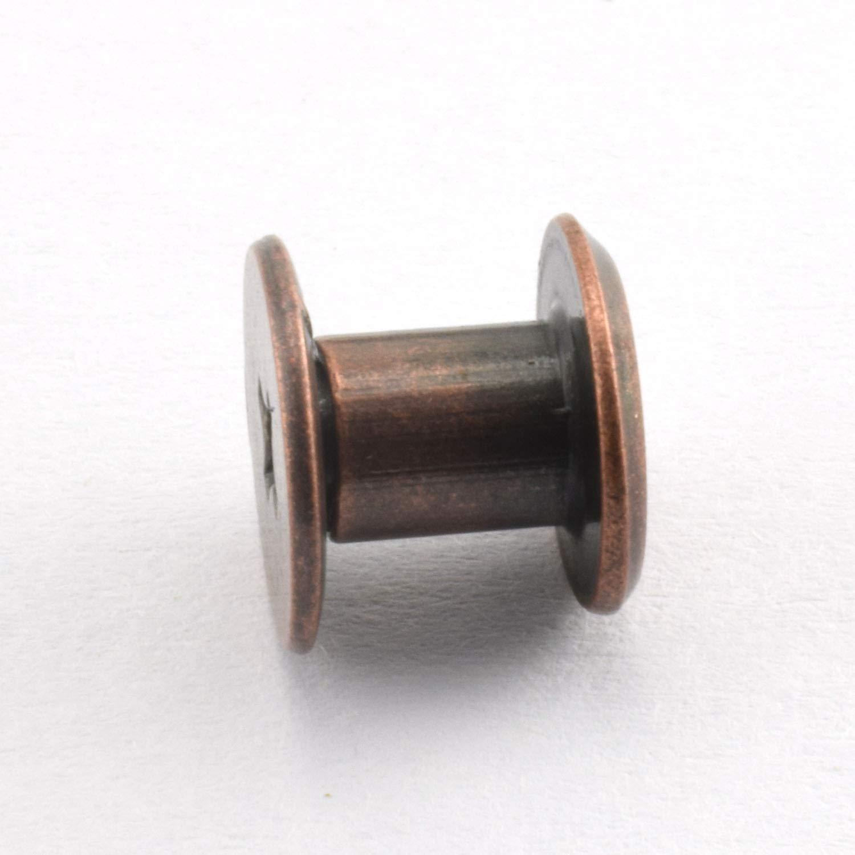 LQ Industrial 120sets Chicago Screw Cross Head Phillips Drive Binding Screws Rivet Book Binding DIY Leather Craft Assembly Bolt 5x6mm Gold