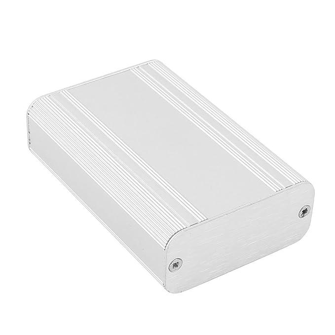 Amazon.com: eDealMax 87x58x25mm multiusos de aluminio extruido carcasa de la caja electrónica tono de Plata: Electronics