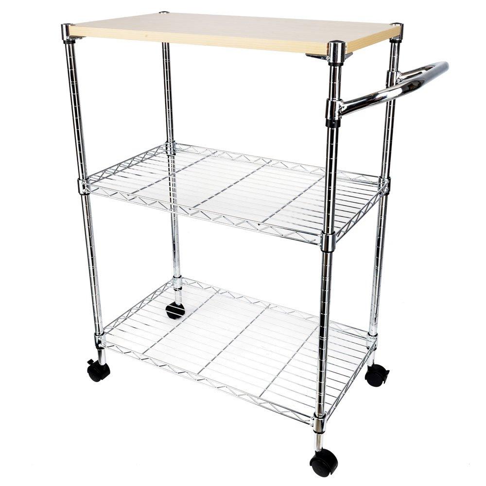 Binlin 3-Tier Kitchen Cart on Wheels,3-Tier Kitchen Baker