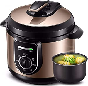 6 In 1 Electric Pressure Cooker,Pressure Cooker, 4 Litre, 900 W, Rotary Mechanical Switch,Multi-function Menu,Adjustable Pressure,Slow Cooker, Rice Cooker, Steamer, Saute,Golden