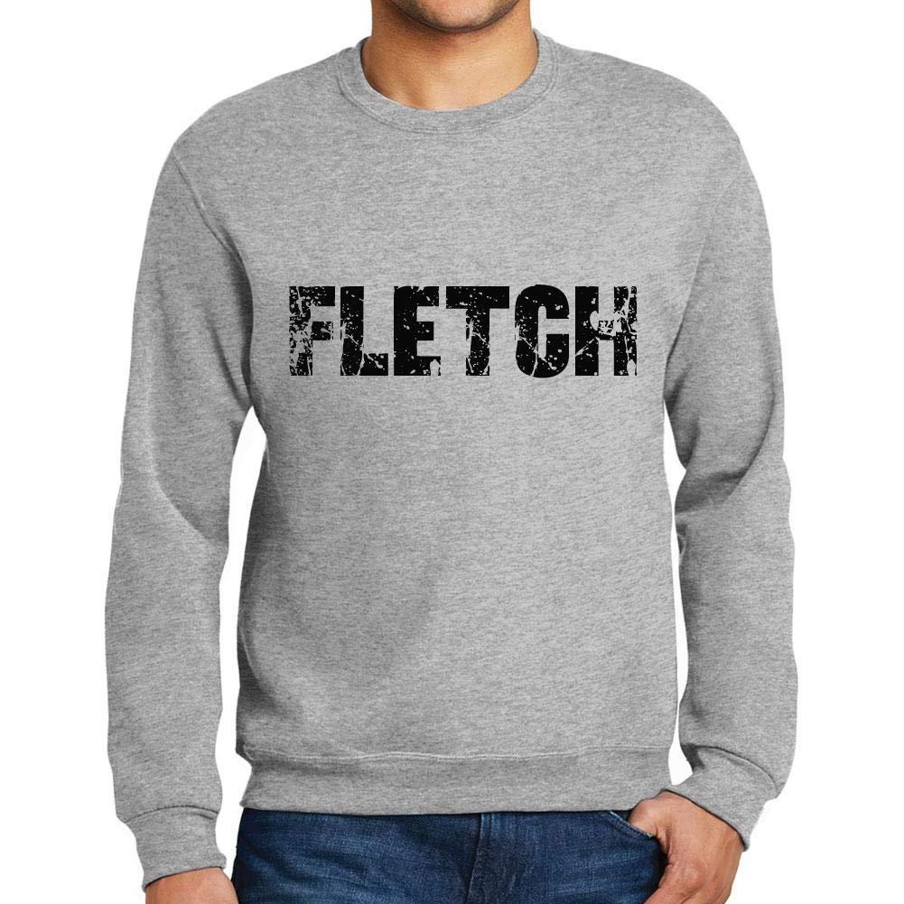 Ultrabasic Men/'s Printed Graphic Sweatshirt Popular Words Fletch Grey Marl