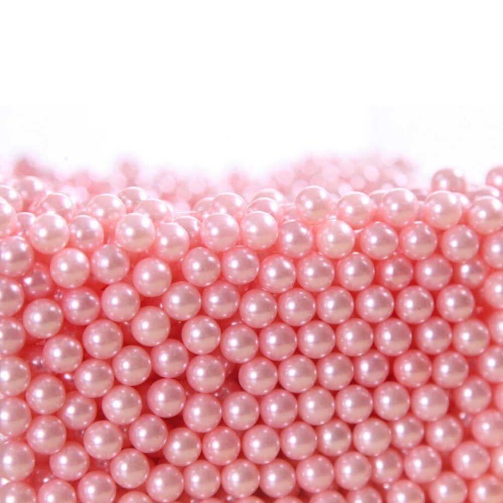 Makeup Beads for Brushes,AIYoo Art Faux Pearls 1500 pcs for Lipstick, Mascara, Eyeliner,Makeup Brush Holder Organizer, Highlight Plastic Round Pearls ,Diameter 8mm Lemeijia LJ-158-Pink