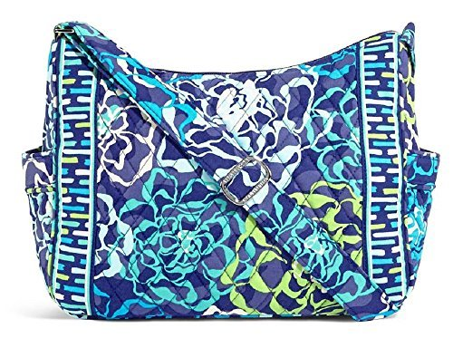 Vera Bradley On the Go Shoulder Hobo Style Handbag in Katalina Blues