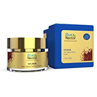 Blue Nectar Anti Ageing Day and Night Brightening Face Cream for Wrinkles with Pure Saffron Sandalwood (No Parabens or…