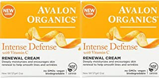 product image for Avalon Organics Intense Defense with Vitamin C Renewal Cream, 2 oz (Pack of 2)
