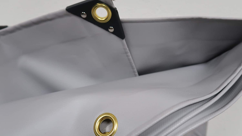 4,90/€//m/² Premium PVC LKW Plane Abdeckplane 650 g//m/² Gewebeplane 16 verschiedene Gr/ö/ßen w/ählbar Gr/ün Grau 18 mm Messing /Ösen 4 x 6 m, Gr/ün