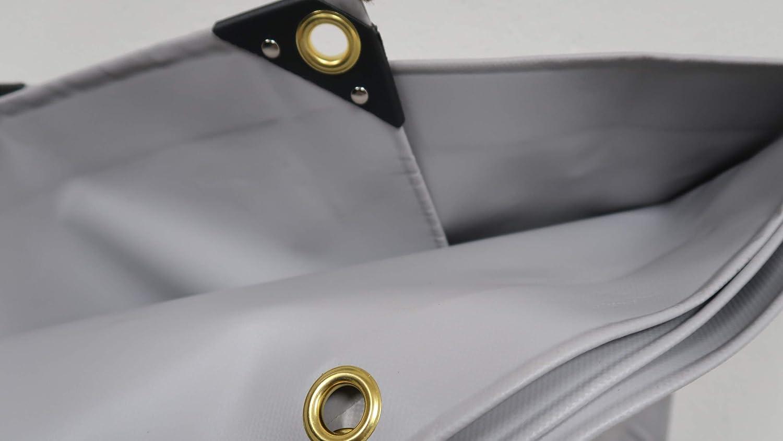 3 x 4 m, Gr/ün 4,90/€//m/² Premium PVC LKW Plane Abdeckplane 650 g//m/² Gewebeplane Gr/ün Grau 18 mm Messing /Ösen