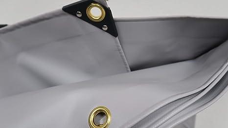 Abdeckplane 4m x 6m wasserdicht Saum und Befestigungsösen Plane UV Stabil