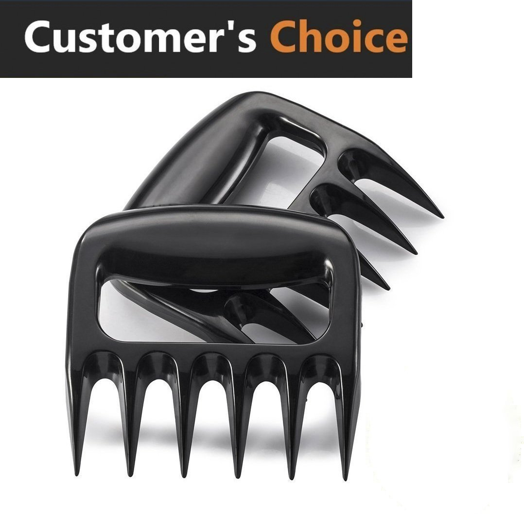 Morlee Meat Claws, Soild Pulled Pork Shredder Claws, Barbecue Meat Handling & Carving Food , 2pack, BPA Free Barbecue Paws
