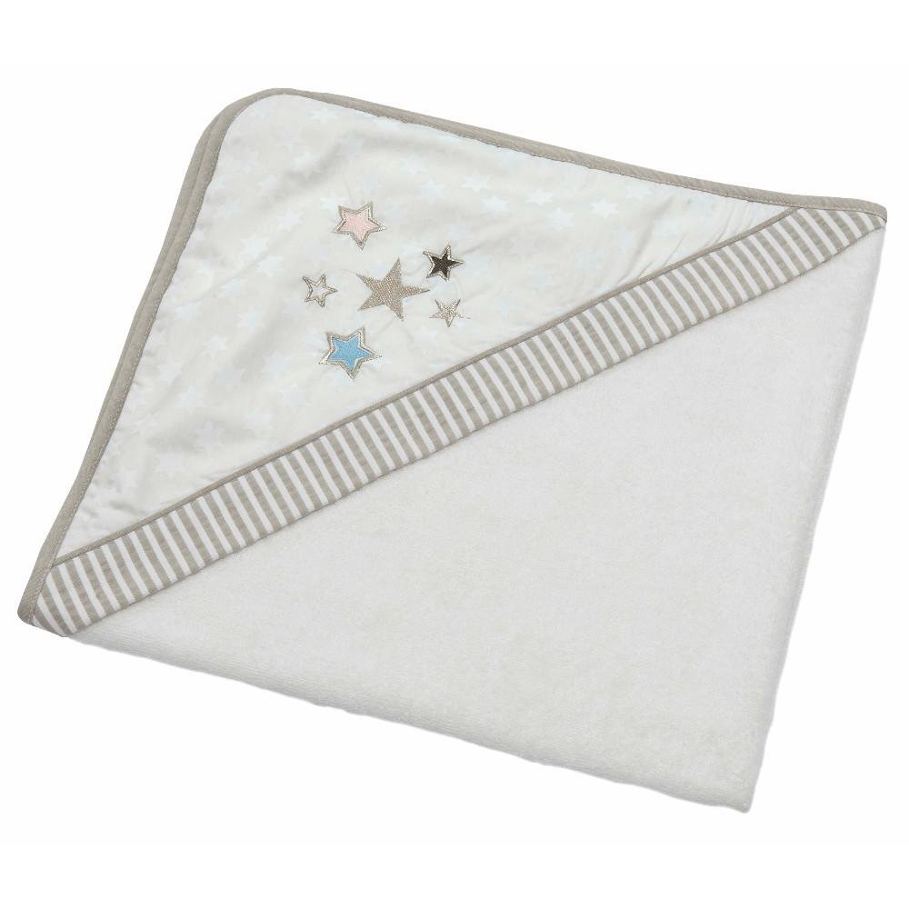 BEBE S Collection Surface de paillettes étoiles Taille – : Serviette à capuche 80 x 80 Bebe' s Collection